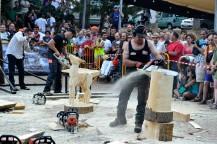 Equipo Hacha Stihl Timbersport series Festival de la Sierra y el Hombre