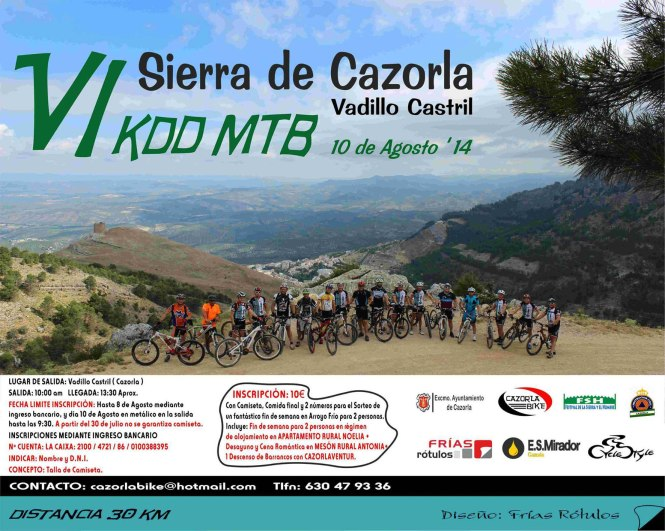 Cartel VI KDD MTB Sierra de Cazorla Vadillo Castril