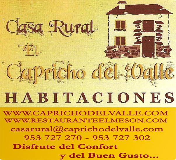 Casa Rural Capricho del Valle.